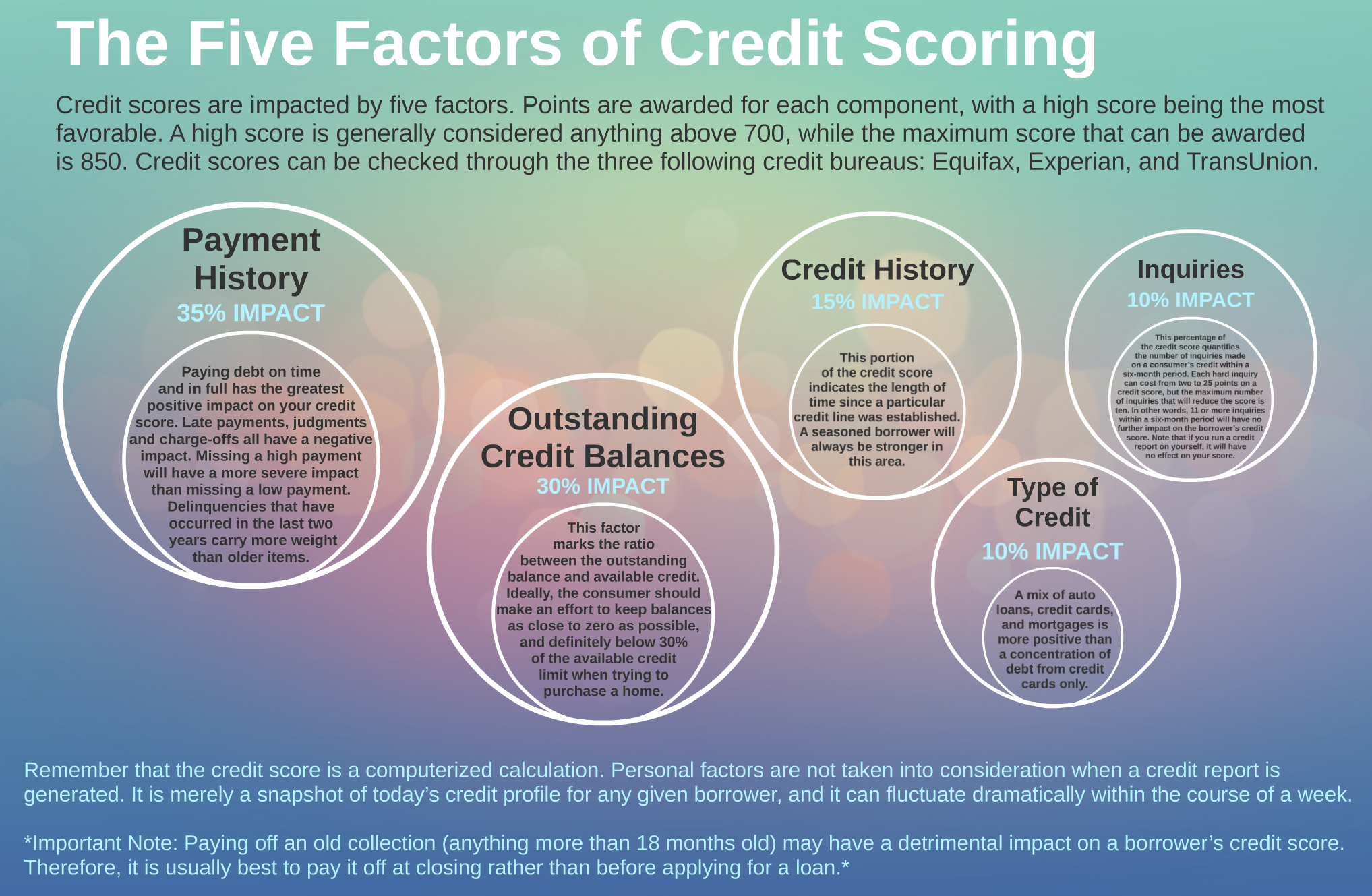 5 Factors of Credit Scoring
