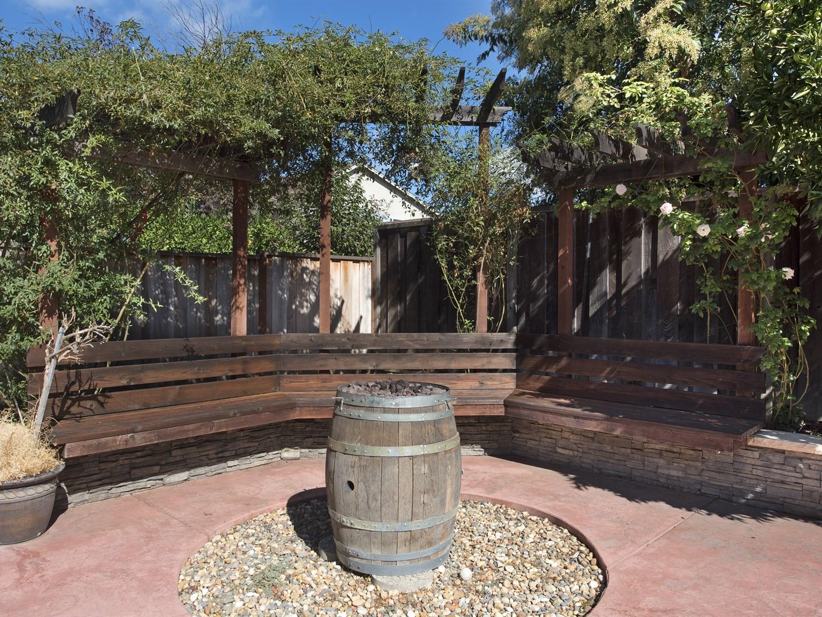 Backyard Arbor & Firepit